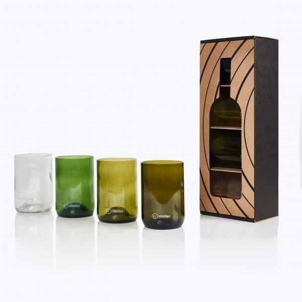 Rebottled Tumbler drinkglas 4-Pack