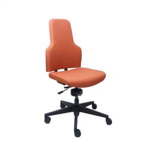 Bureaustoel Spindl One Oranje Leer