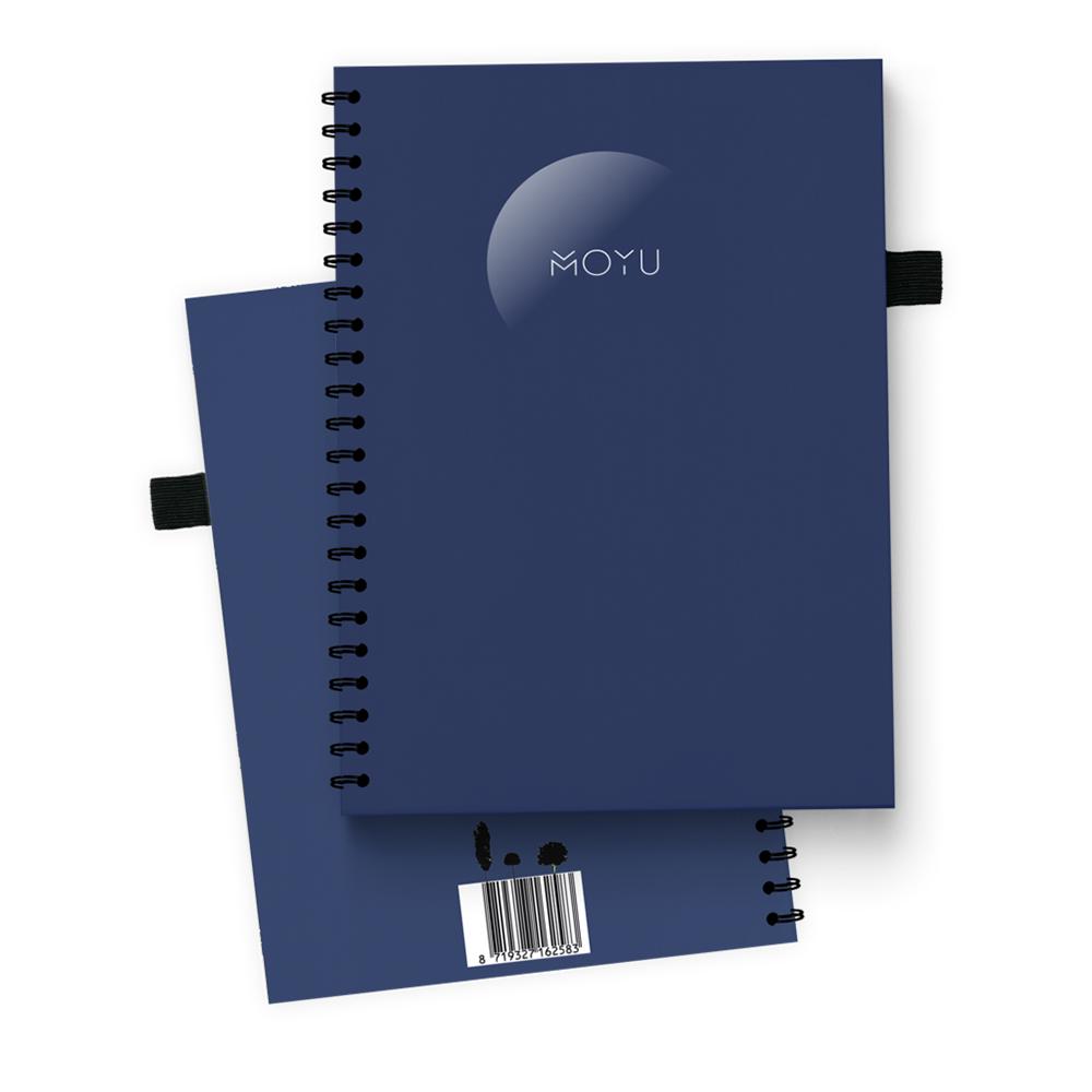 night blue steenpapier notitieboek ringband a5